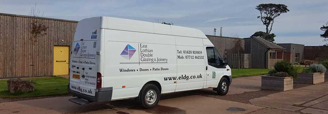 1 of 2 vans East Lothian Double Glazing & Joinery van UPVC Windows & Doors also Composite Doors